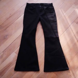 7 For All Mankind Black Bell-bottom Jeans